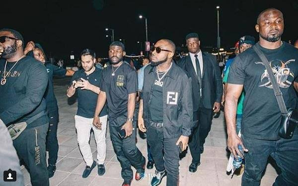 Davido And His Crew Allegedly Denied Access To Popular Ghanaian Club (Video)