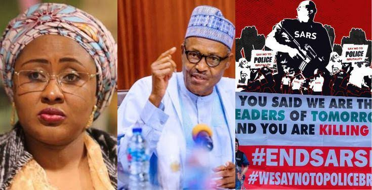#EndSARS :'Save the people' – Aisha Buhari Expresses In A Song To President Buhari (Video)