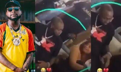 Moment Davido angrily chased out two lovers making out beside him (Video)