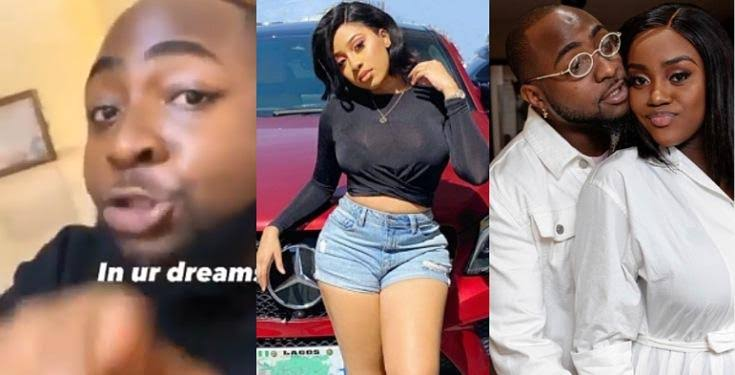 """""""In your dreams, idiot"""" – Davido blasts lady who called out Chioma and asked her to get him out of her DM (Video)"""