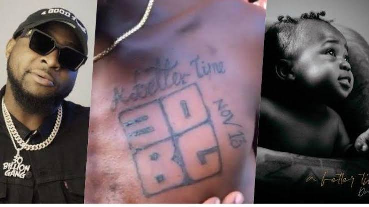 Die-hard fan of Davido inks tattoo of '30BG' on his chest (Video)