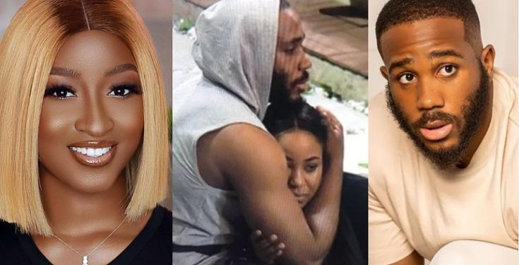 """It's The Yellow Garri she likes"" Kiddwaya reacts as Kim Oprah reveals Erica might have gotten pregnant for him because her tummy looks bigger"