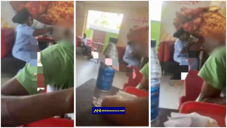 Watch Moment Couple ignore their house maid while eating with their kids at a restaurant (Video)