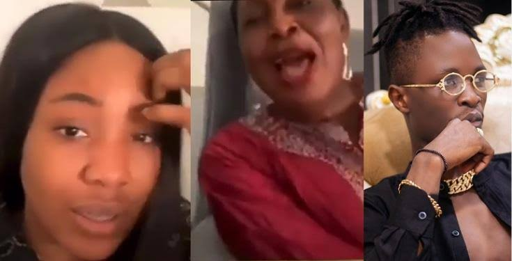 """They wanted to go and kill Laycon"" – Erica quickly ends live video as her mom reveals sensitive information about Laycon (Video)"