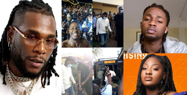 Burna Boy, other celebrities call for the release of Omah Lay and Tems as they're remanded in prison in Uganda
