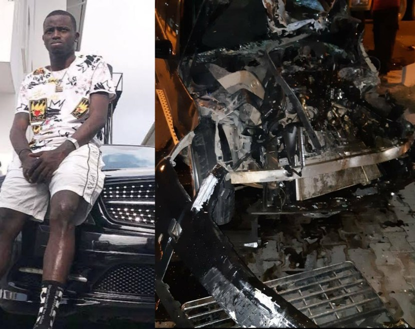Davido's former PA, Aloma DMW survives ghastly accident (Photos)