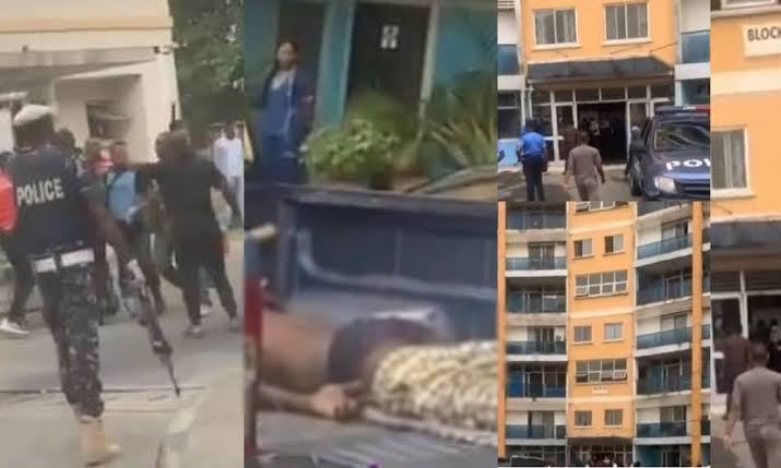 See how Man reportedly jumps to his death after EFCC stormed 1004 Estate Lagos, to effect some arrests (photos/Video)