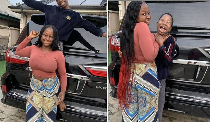 Emmanuella flaunts new car as she wishes fans happy new month