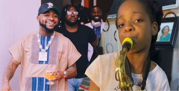 Davido gifts 10-year-old saxophonist N500K for playing 'Jowo' track perfectly (Video)
