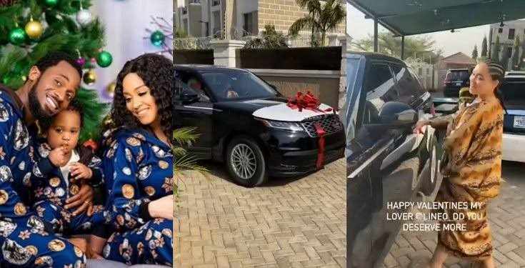 D'banj surprises his wife with Range Rover Velar as gift for Valentine's Day (Video)